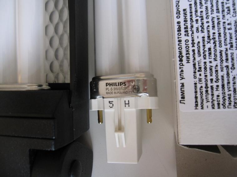 Псориазис-311нм от UVBNB - цоколь родной лампочки PL-S 9W-01-2P