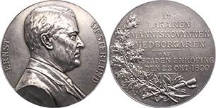 Медаль магистрата г.Энчопинга, посвящённая 60-летию доктора Вестерлунда
